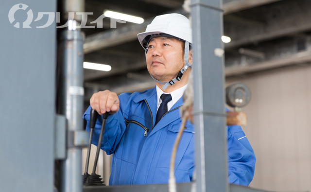 (フォークリフト)機械部品の生産管理
